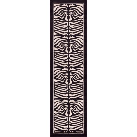 zebra print runner rug well woven dulcet zebra ivory 2 ft x 7 ft 3 in animal print rug runner rug 18022 the home depot