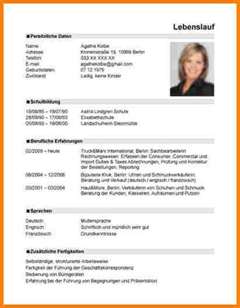 Lebenslauf Tabellarisch Schriftgroße 10 Lebenslauf Beispiele Resignation Format