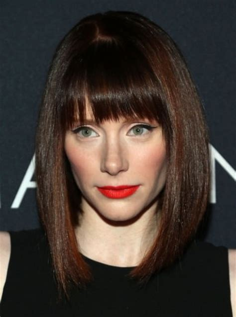 swing bob with side swept bangs 20 different long bob with bangs