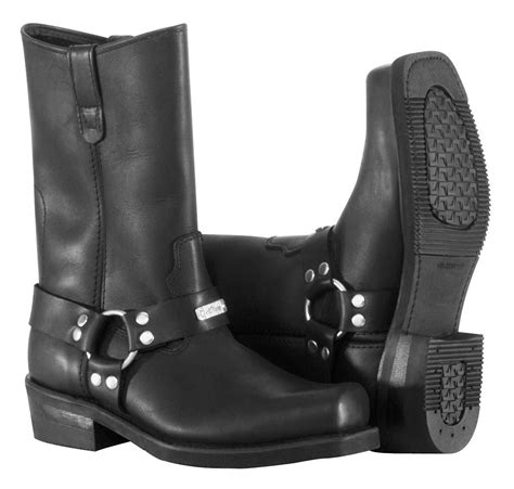 motorcycle road boots river road traditional square toe harness boots closeout