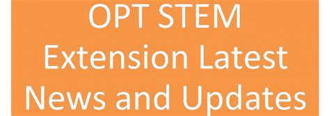 Mba Opt And Stem Opt by Opt Stem Extension Collegepond