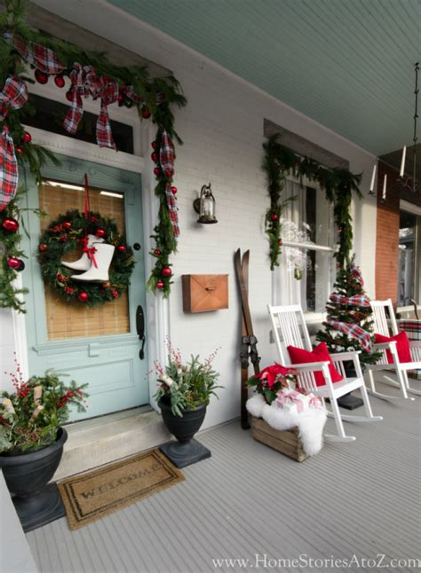 porch christmas decorations 20 beautiful christmas porch ideas diy christmas decorating