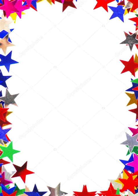 cornici colorate cornice stelle colorate foto stock 169 horenko 55429827