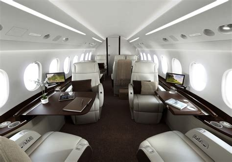 beautiful private jets interiors