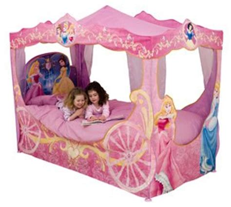 disney princess carriage toddler bed disney princess carriage bed canopy amazon co uk toys games