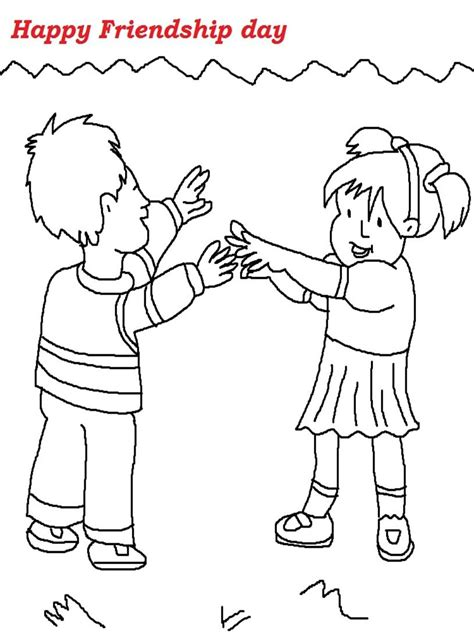 Friendship Coloring Page Friendship Day Printable Coloring Page For Kids 1 by Friendship Coloring Page