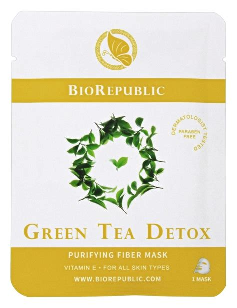 Green Tea Detox Purifying Sheet Mask by Buy Biorepublic Skincare Purifying Fiber Sheet Mask