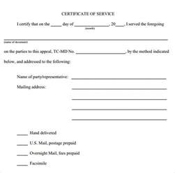 certificate for years of service template certificate of service template 8 free