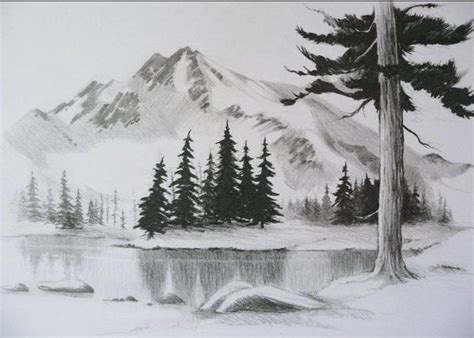 Bridge Pin Hitam Dengan Titik Putih contoh lukisan pemandangan yang mudah ditiru pensil pesonadunia sketch drawing