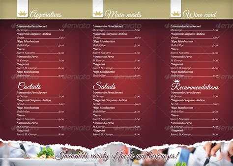 15 premium tri fold menu card templates