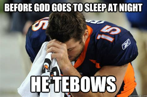 Tebow Meme - most controversial college football players of the last decade