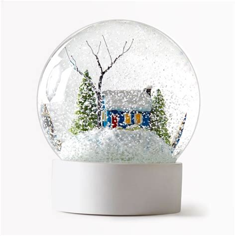 personalised name snow globe christmas tree decoration