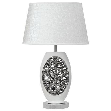 Bien Table De Chevet Metal #7: Lampe-de-chevet-design-effet-bulles-ceramique-blanc_L48743.jpg