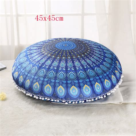 floor ottoman cushion indian large peacock mandala floor meditation