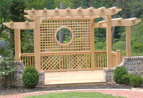 arbor trellis plans wood arbors