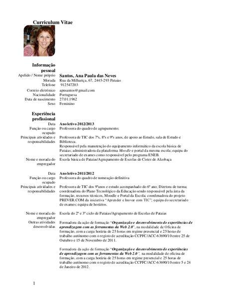 Modelo Actual De Curriculum Vitae 2013 Curriculum Vitae Foto Exemplos Curriculum Vitae Foto Modelo
