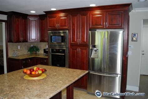 mahogany maple kitchen cabinates photos mahogany maple rta cabinet hub cayenne cognac