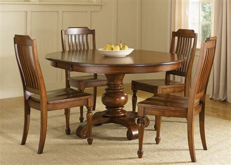 48 inch table with 5 chairs americana pedestal table 5 dining set in