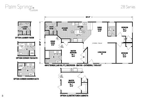 skyline manufactured homes floor plans palm springs series