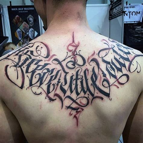 tattoo fonts men s 50 back tattoos for masculine ink design ideas