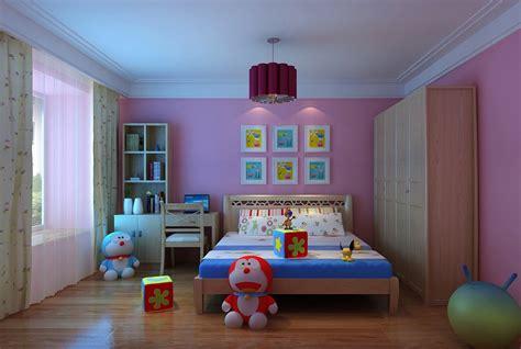 3d bedroom modern kids bedroom with wooden floor full 3d model