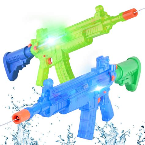 Superior Water Light And Power by Deao Soaker Water Blaster Battery Powered Water Gun