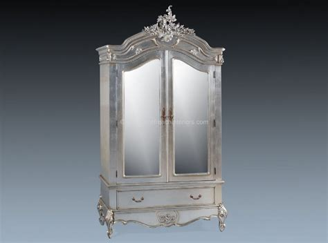 mirrored armoire louis double mirrored armoire