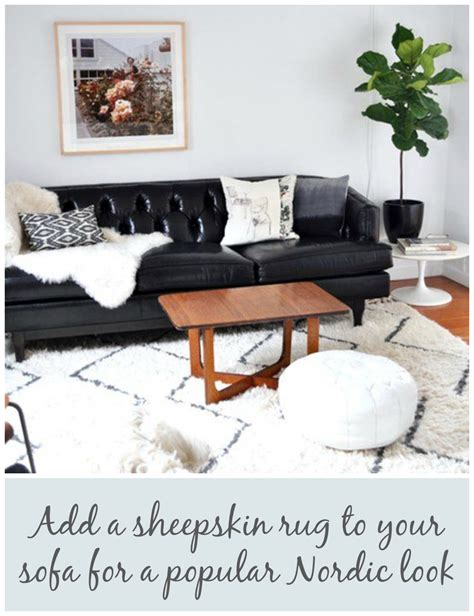 Sheepskin Rug On Sofa by Refresh Your Home With A Sofa Update By Jen