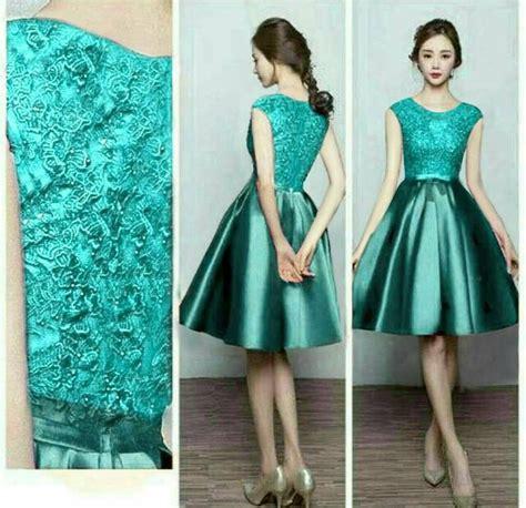 gaun ke design jual gaun pesta elegan dress tosca 300117 menakjubkan di