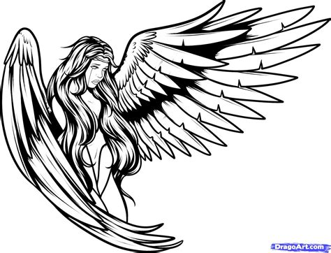 tattoo angel outline 45 angel tattoos designs and sles