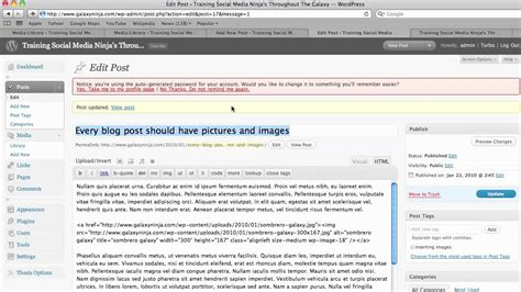 wordpress tutorial new post wordpress tutorials how to add images to the body of your