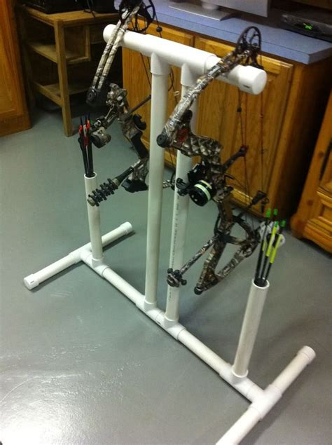 archery bow stand plans pvc bow stand with quiver diy ideas