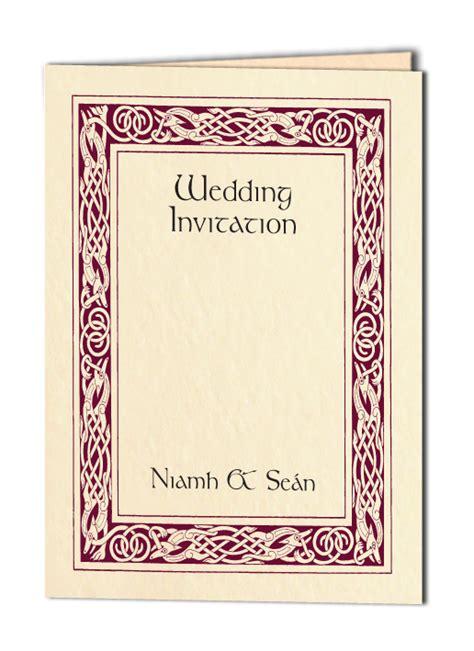Celtic Wedding Invitations by Celtic Wedding Invitations Personalised Celtic Wedding