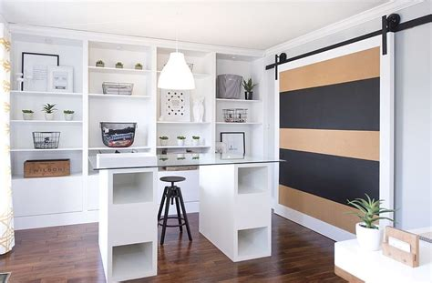 striped home office accent wall ideas inspirations
