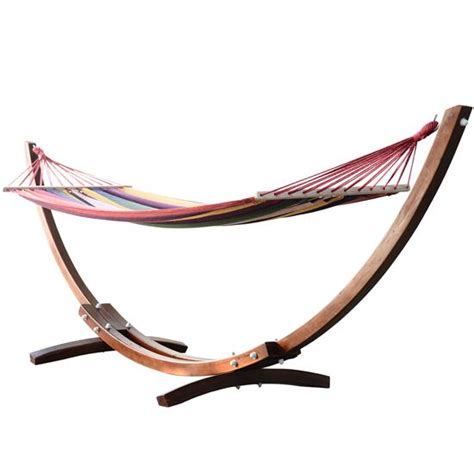 Arc Hammock Colorful Wooden Arc Hammock With Stand