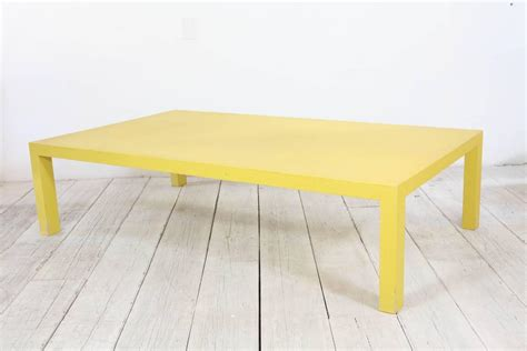 Yellow Coffee Tables Yellow Woven Coffee Table Attributed To Karl Springer At 1stdibs