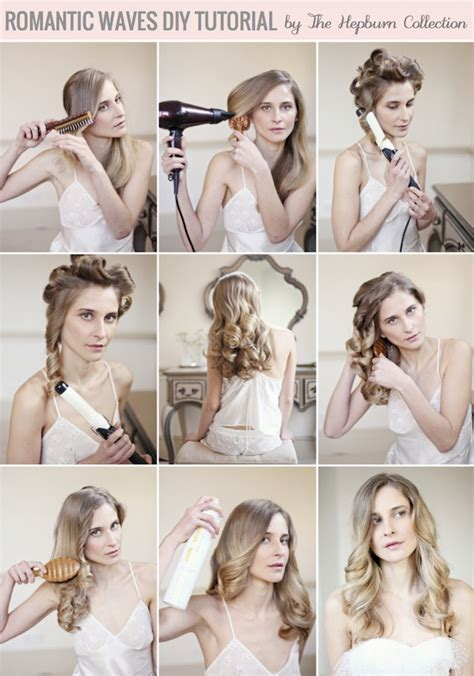 hair tutorial romantic waves hair tutorial by the hepburn collection