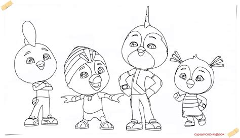 top wing new series cartoon coloring page coloring page