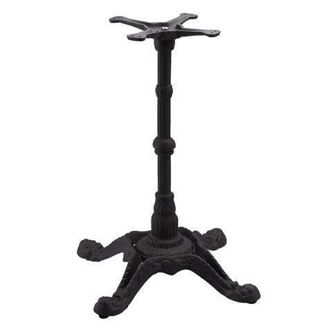 metal pedestal table base bistro 4 black table base tablebases com quality table