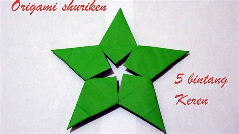 membuat origami shuriken cara membuat origami shuriken tutorial shuriken 5 bintang