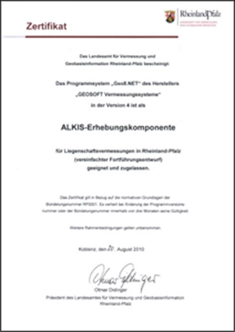 Musterbrief Einladung Zum Seminar Geo8 Net Als Alkis Erhebungskomponente Fr Rheinland Pfalz Zertifiziert