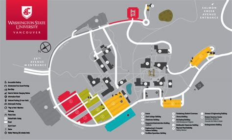 Wsu Vancouver Mba Program by Cus Map Directions And Parking Information Wsu Vancouver