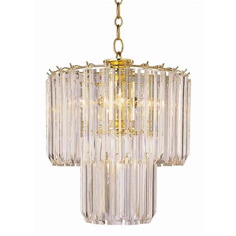 Bel Air Lighting Stewart 5 Light Polished Brass Chandelier Chandelier Brass