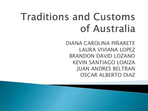 traditions in australia traditions and customs of australia