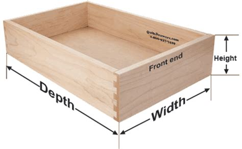 how to measure for new or replacement drawer boxes