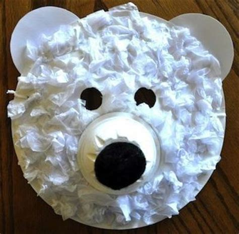Polar Paper Plate Craft - preschool crafts for polar paper plate mask