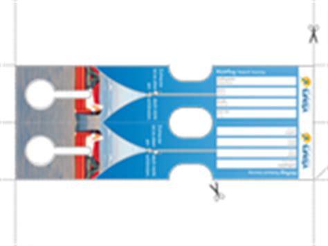 Kofferaufkleber Zum Drucken by Specials Expedienten Kofferanh 228 Nger Und Tickettaschen