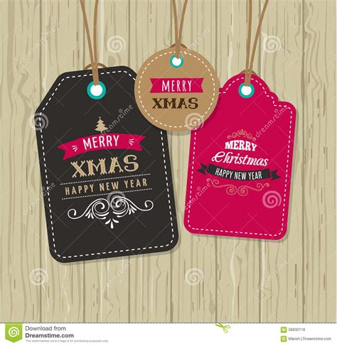 christmas sale gift tags and labels stock vector image