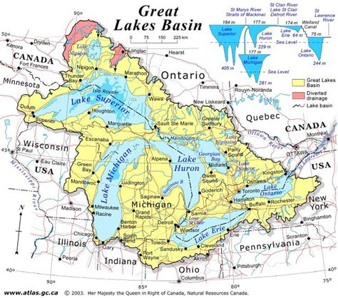 great lakes canada map canada map great lakes