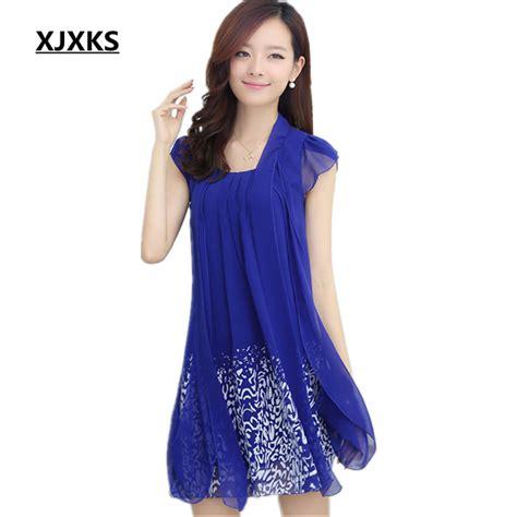 Fashion Fend Size Medium xjxks new 2017 summer medium sleeve dress dress summer dress plus size clothing